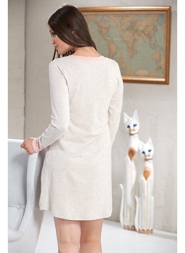Baskılı Kadın Uzun Kol Tunik-Sevim
